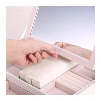 Луксозна кутия за бижута с огледало и много отделения