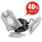 Деформираща се LED лампа с три глави 60W 6000K