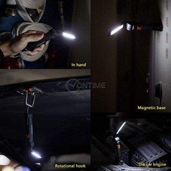 Акумулаторен LED фенер с магнит за прикрепяне