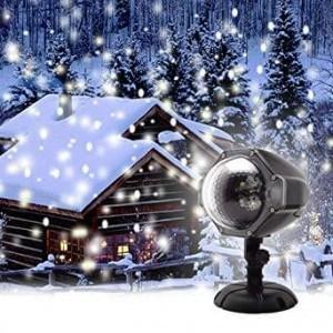 LED прожектор на снежинки