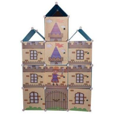 Етажерка за детска стая замък за дрехи и играчки