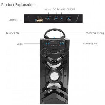 Блутут тонколона MS191 BT LED ефекти/USB/FM/SD