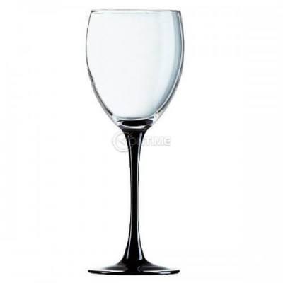 Комплект чаши за вино на черно столче 250 мл