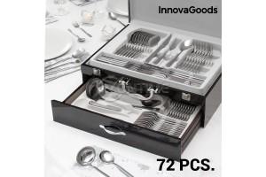 Прибори за хранене от неръждаема стомана лукс Innovagoods - 72 части