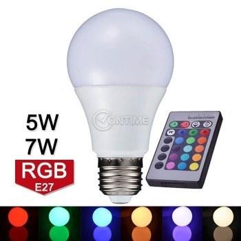 Крушка с дистанционно RGB