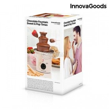 Шоколадов фонтан Sweet and Pop Times, бял, 70W, стоманен InnovaGoods