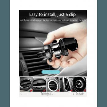 Стойка за телефон за вентилационна решетка на кола