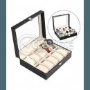 Кутия за часовници, еко кожа, 10 отделения