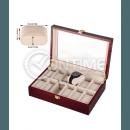 Дървена кутия за часовници - лукс с 12 отделения