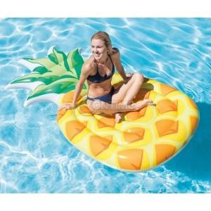 Надуваем дюшек за плаж във формата на ананас Intex