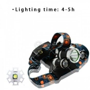 Челник LED фенер, водоустойчив с три глави
