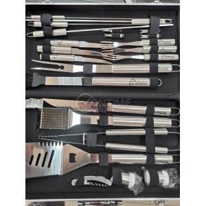 Комплект за барбекю - 22 части в лукс метален куфар