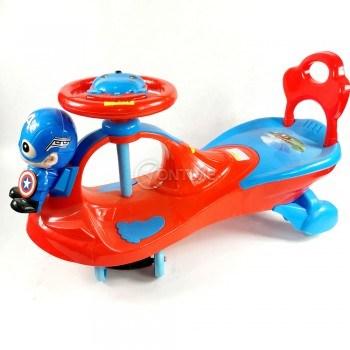 Детска кола за бутане с крачета Капитан Америка