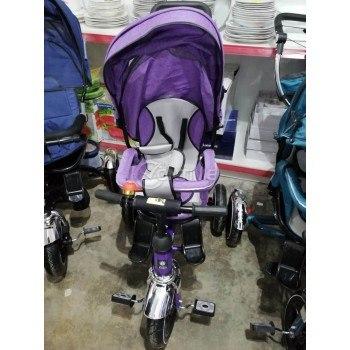 Детска триколка-колело, сенник, мелодии, предпазен борд, родителски контрол