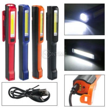 Мини работна лампа- мощна с магнит и USB зареждане