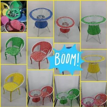 Маси и столове изкуствен, цветен ратан