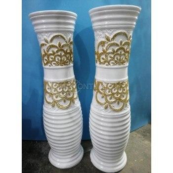 Декоративна ваза- бяла и черна