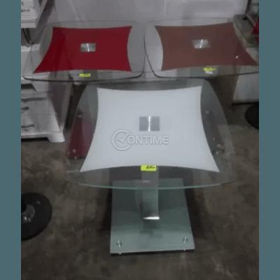 Стъклена маса 60 х 60см. и метална основа