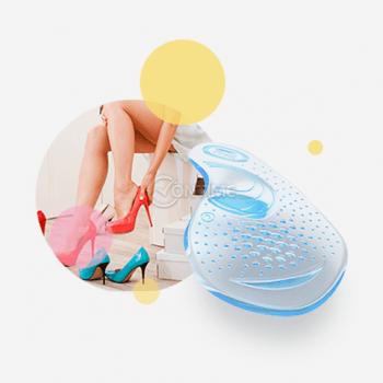 Силиконови гел стелки за обувки на висок ток