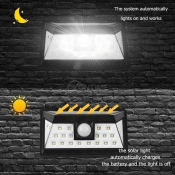 Соларна LED лампа, сензор за движение, мощни диоди