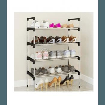 Стелаж за обувки, метал и пластмаса, 6 нива