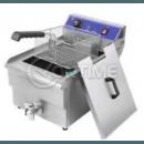 Професионален електрически фритюрник 6 литра, кран за източване на мазнината