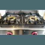 Професионален газов котлон двоен със защита, чугунени горелки