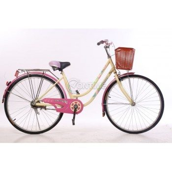 Дамски велосипед 26 цола с кошница за багаж