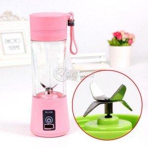 Електрически преносим мини блендер за сокове с чаша, с USB кабел за зареждане
