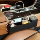 Органайзер за кола с USB изход, поставка за чаша