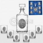 Сервиз за ракия бутилка с 6 чаши Artina