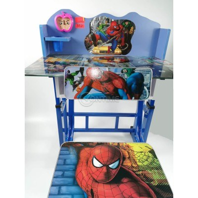 Детски чин и столче Спайдърмен, луксозен стъклен плот