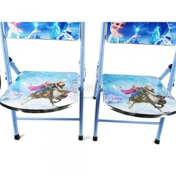 Детска сгъваема маса и 2 столчета с мотиви на Леденото Кралство