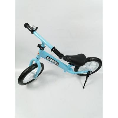 Балансиращ велосипед без педали, син, розов цвят
