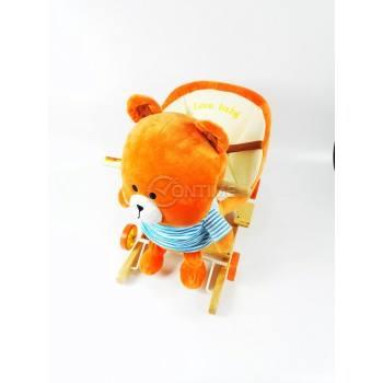 Детска дървена люлка и количка 2 в 1 Мече