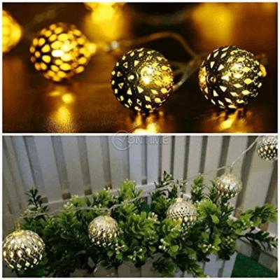 Соларни лампи, мароканска топка слънчева светлина 5 метра, 12 LED