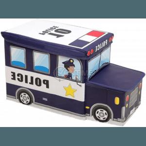 Детска кутия за играчки - Табуретка - POLICE