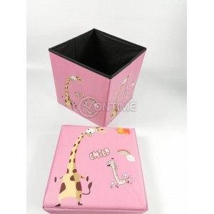Детска кутия за играчки - Табуретка - ЖИРАФ