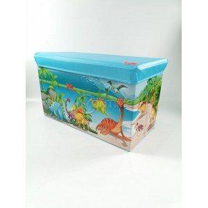 Детска кутия за играчки - Табуретка - ЖИВОТИНСКО КРАЛСТВО