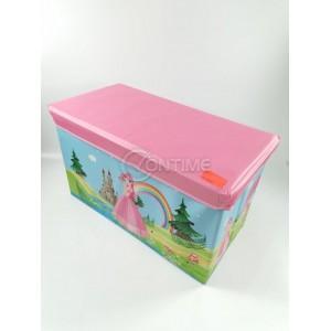 Детска кутия за играчки - Табуретка - Принцеса