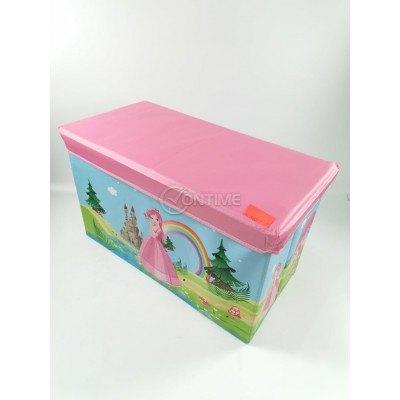 Детска кутия за играчки - Табуретка - Прицеса