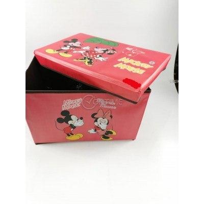 Детска кутия за играчки - Табуретка - МИКИ МАУС