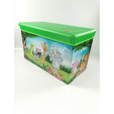 Детска кутия за играчки - Табуретка - ЖИВОТИНСКО КРАЛСТВО 2