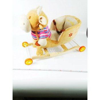 Детска дървена люлка и количка 2 в 1 Хипо