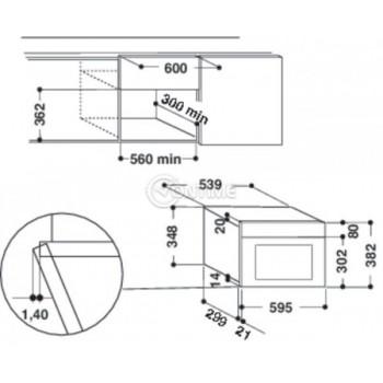 Вградена микровълнова фурна Hotpoint-Ariston MN 212 IX/HA