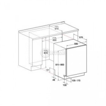 Вградена миялна машина Hotpoint-Ariston LTB 4B019 EU