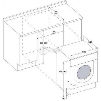 Вградена пералня Hotpoint-Ariston BI WMHG 71484 EU