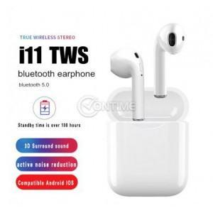 Безжични bluetooth слушалки i18tws, зарядна станция
