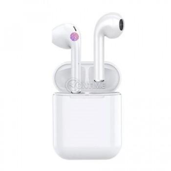 Безжични блутут 5.0 слушалки i12 tws със зарядна станция