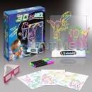 Детска дъска за рисуване 3D Magic Drawing Board, LED светлини